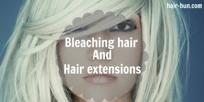 bleaching-hair-extensions