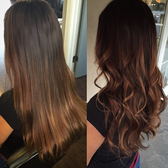 Chocolate Brown Hair Extensions With Caramel Highlights - Hair Style ...