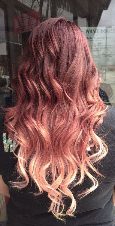 Dyeing ombre hair extensions red to blonde ombre hair pmusecretfo Choice Image