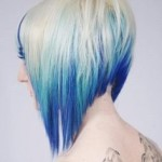 short-blue-ombre