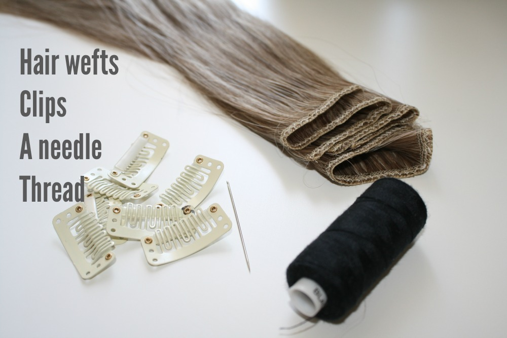 How To Make Double Wefted Clip In Hair Extensions Hairbun